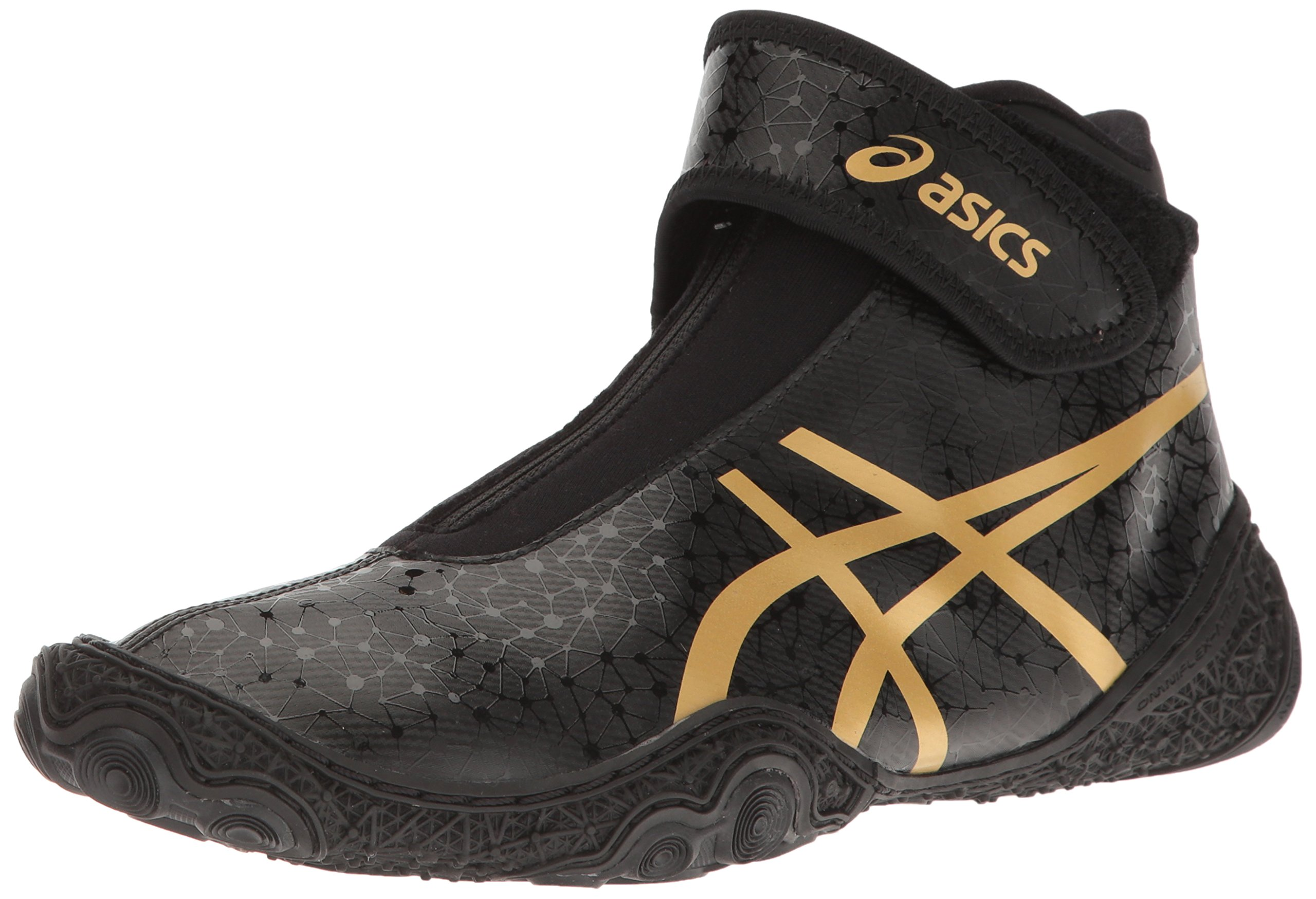 ASICS Men's Omniflex-Attack V2.0-M Wrestling Shoe, Black/Rich Gold, 14 M US by ASICS