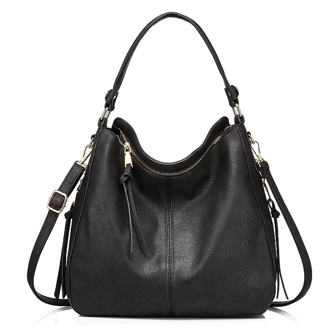 2ca594b7fb1a Amazon.com  Handbags for Women Large Designer Ladies Hobo bag Bucket Purse  Faux Leather  Shoes