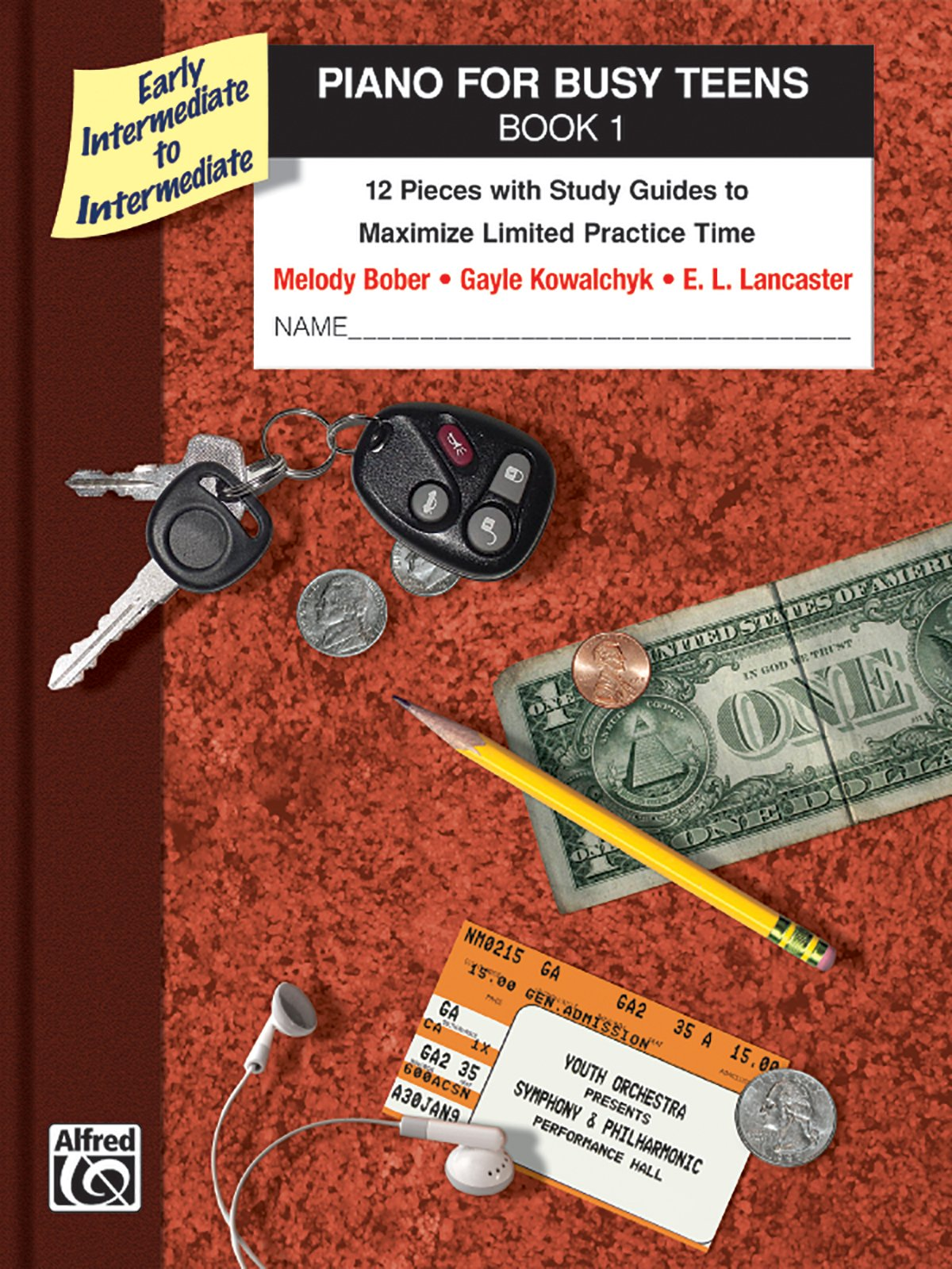 Piano for Busy Teens, Bk 1: 12 Pieces with Study Guides to