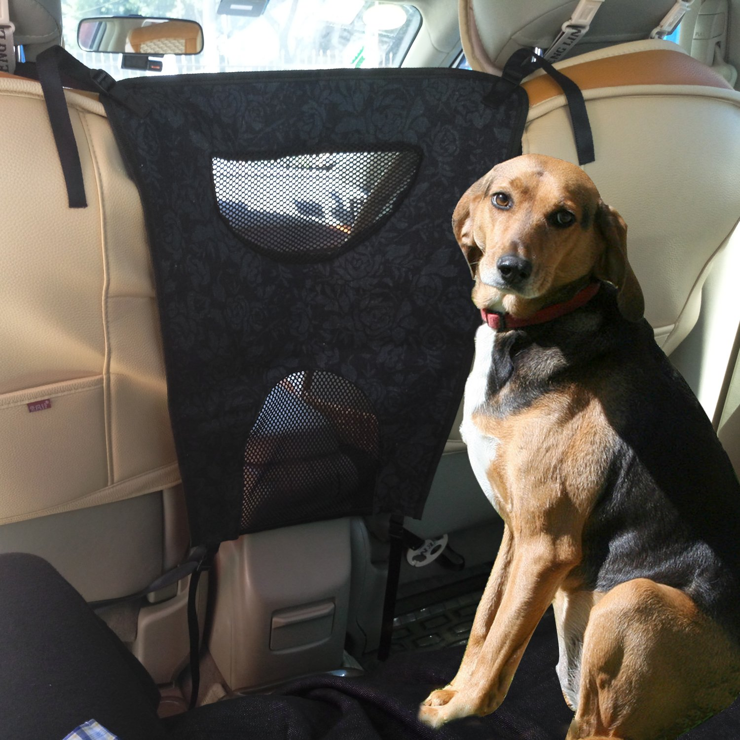 Dog Car Barriers,CarBoss Car Back Seat Mesh Barriers for Dog,Travel Automobile Safety Protectors and Vehicle Pet Net Barriers for Car,SUV,Truck,Van - Helps Keep Pets Off the Front Seat