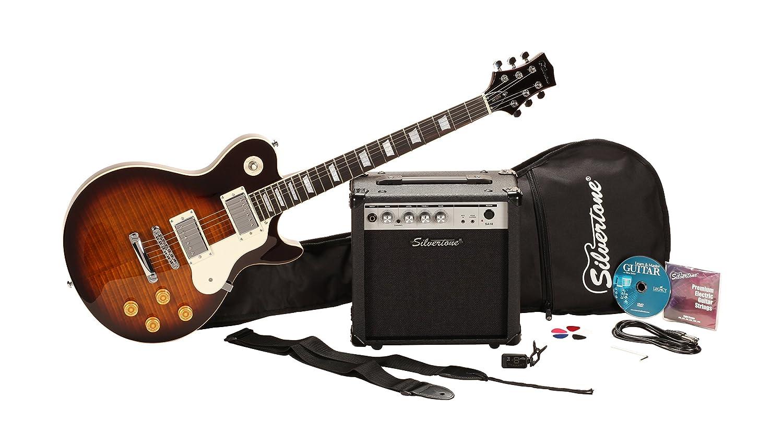 Silvertone Ssl3 Electric Guitar Package Vintage Tobacco The Secret Teacher Dounloadable Courses For Beginners Sunburst Musical Instruments