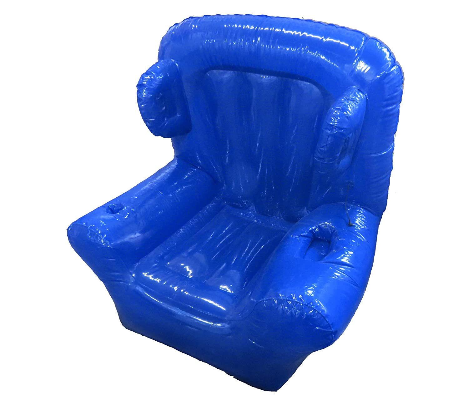 Amazoncom Big Blue Inflatable Chair with IPOD Connection