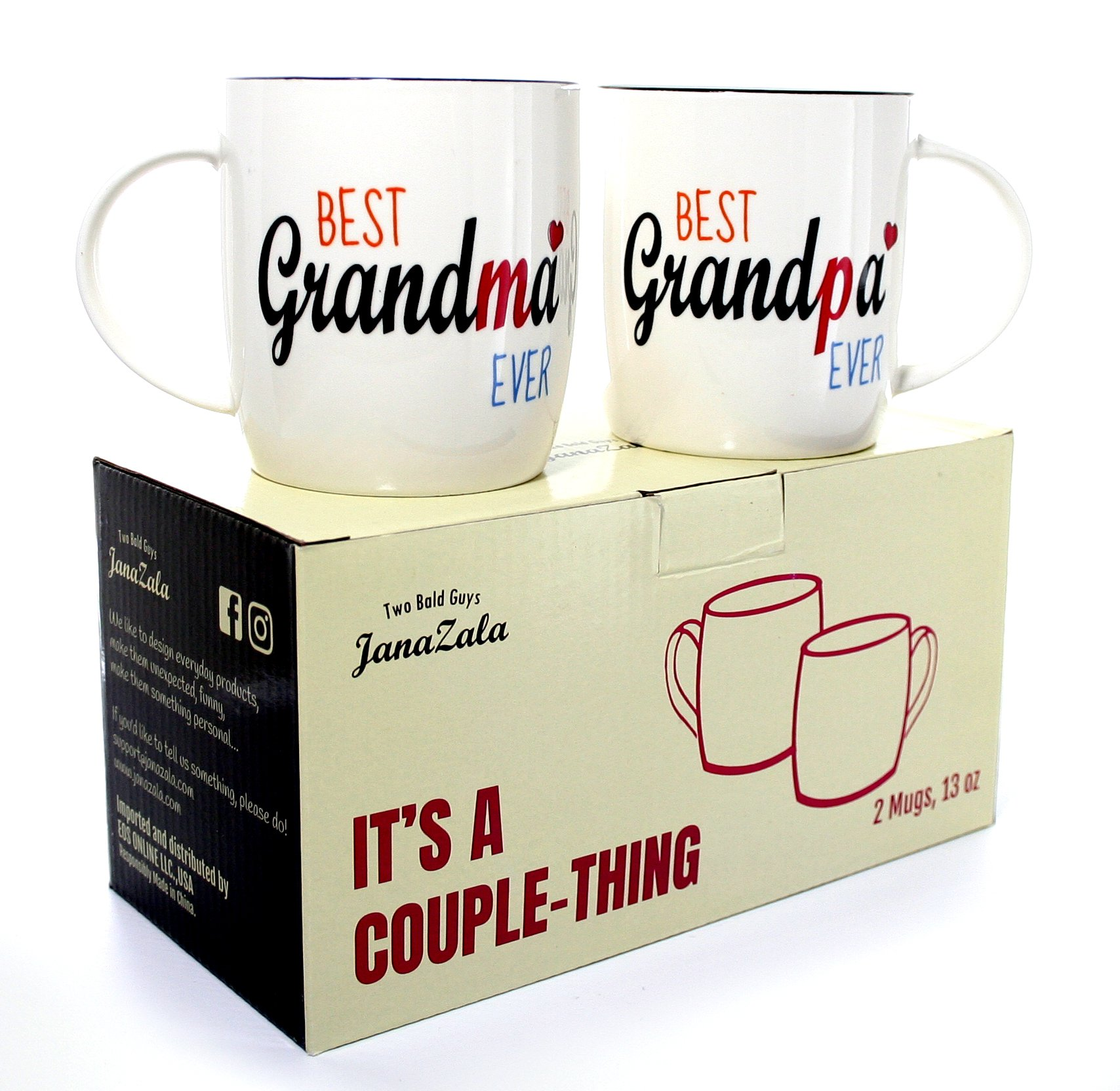 janazala best grandparents ever coffee mugs anniversary and birthday gift for grandma and grandpa grandfather