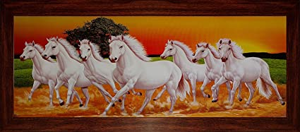 Buy Youth Infomedia Youth 7 Horse Running Painting With Photo Frame