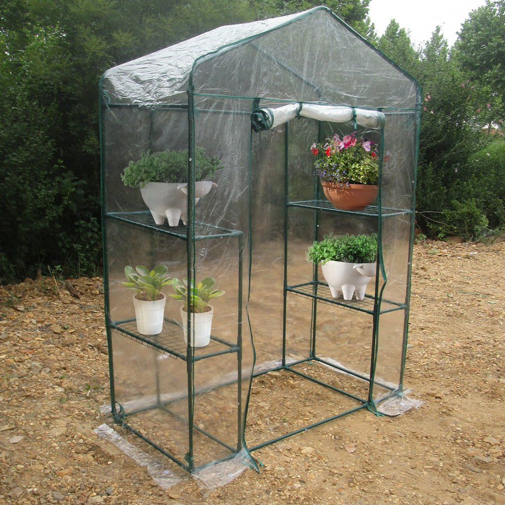 Amazon.com: Portable Garden Greenhouse, Warm Green House for Flower Plants Gardening Outdoor Use (143 x 73 x195cm): Home Improvement