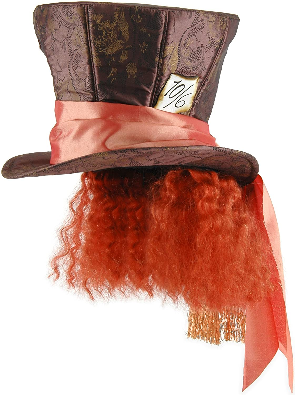 El Sombrerero Loco de Alicia del sombrero de pelo de las maravillas Johnny Depp película de Disney: Amazon.es: Juguetes y juegos