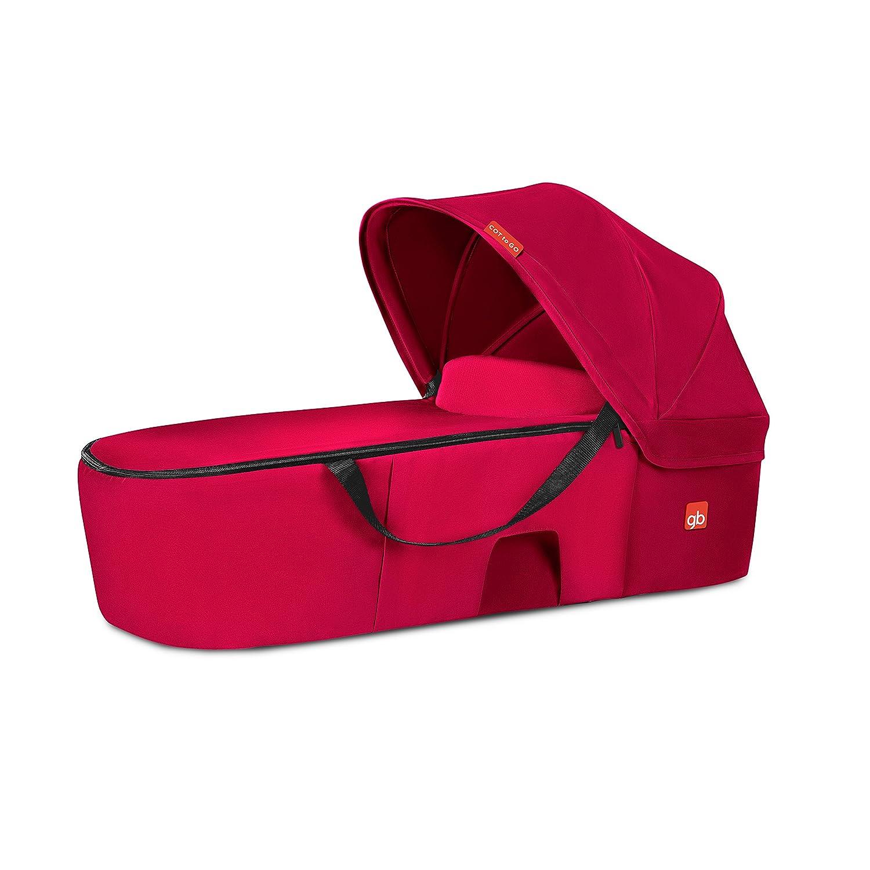 gb Gold - Capazo Cot to Go, para sillas de paseo Qbit+ y Pockit+, Cherry Red