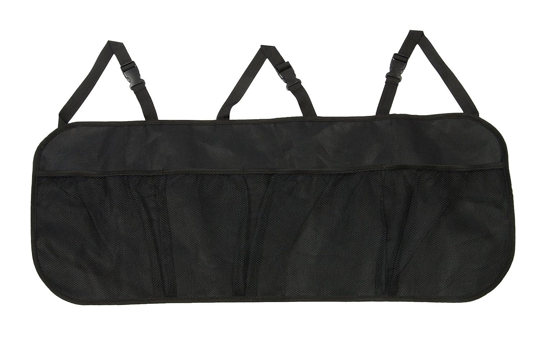 ZOLLNER Organizador para Maletero de Coche y Asiento Trasero, 89x93 cm, Muy Resistente, Negro, Serie Storage-Bag