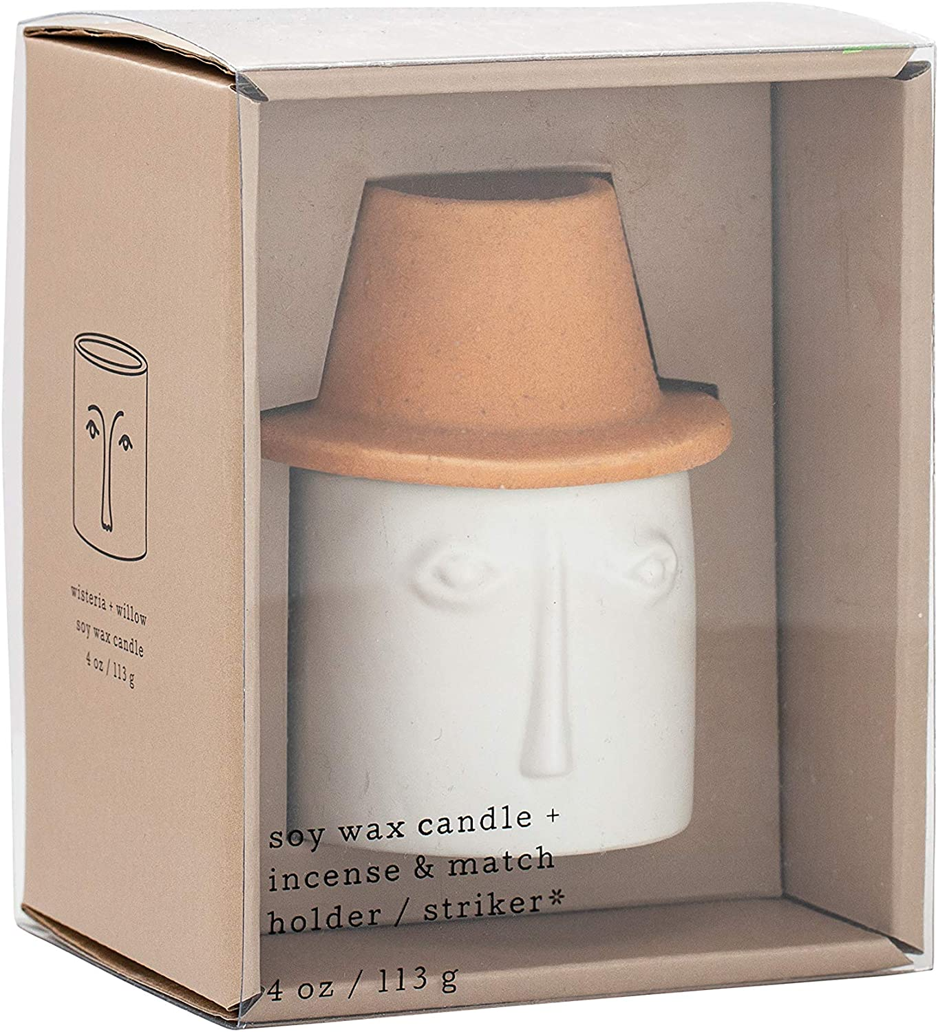 Paddywax Candles Persona Collection Scented Candle, 4-Ounce, Wisteria Willow
