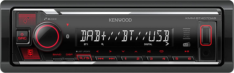 Kenwood Kmm Bt407dab Usb Autoradio Mit Dab Ukw Und Bluetooth Freisprecheinrichtung Soundprozessor Usb Aux Spotify Control Android 4x50 Watt Tastenbeleuchtung Rot Inkl Dab Antenne Elektronik