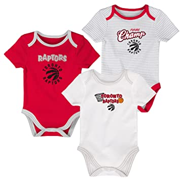 buy popular e7860 ff657 Toronto Raptors Newborn 4th Quarter 3-Piece Creeper Set ...