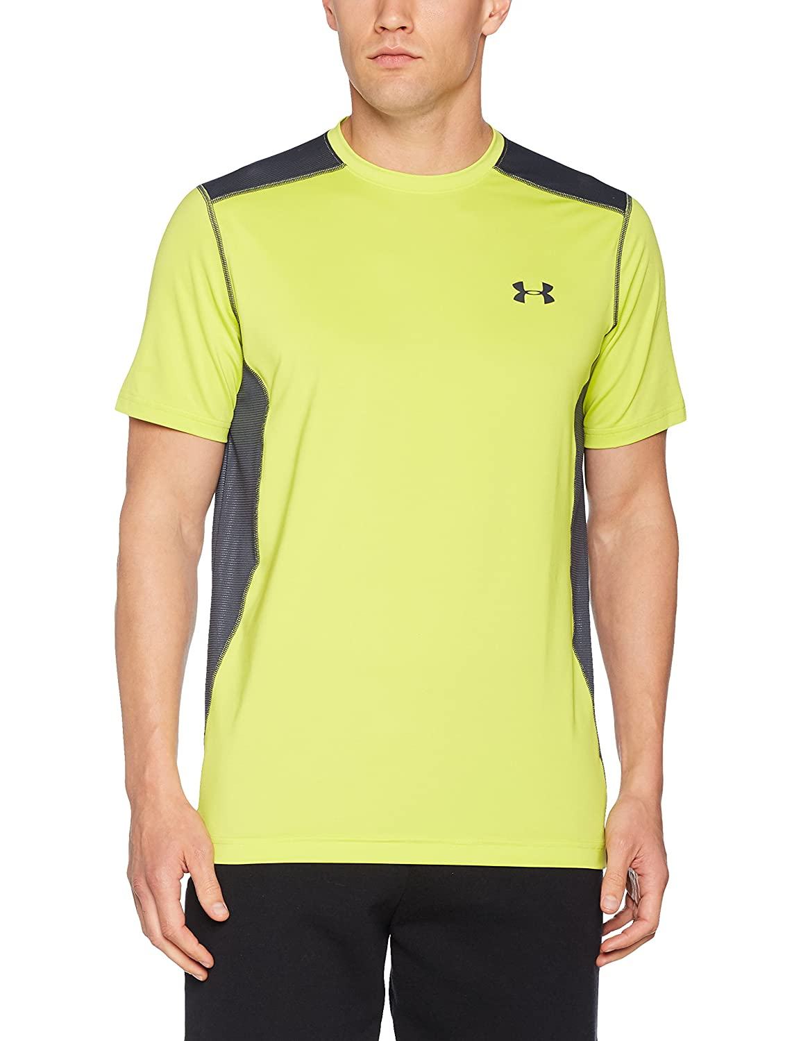 (アンダーアーマー) UNDER ARMOUR ヒットヒートギアSS(トレーニング/Tシャツ/MEN)[1257466] B01MEHLJDA 4L|Smash Yellow/Stealth Gray Smash Yellow/Stealth Gray 4L