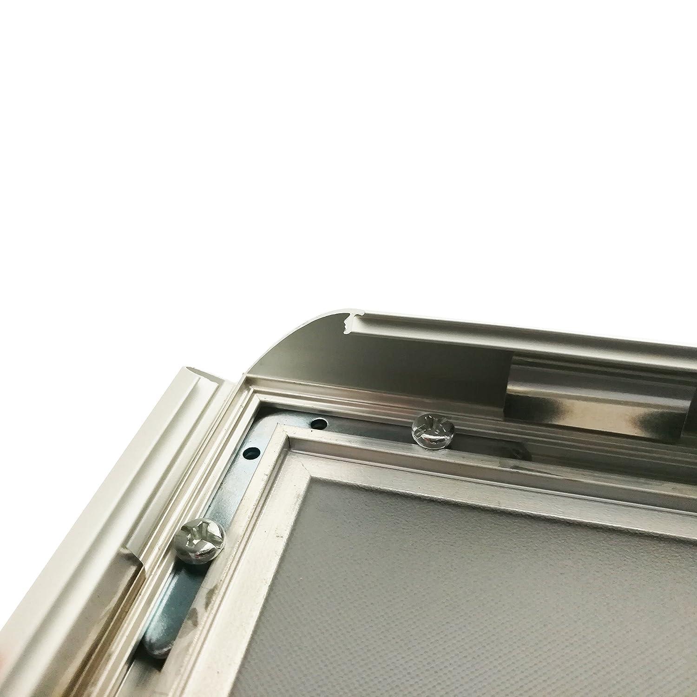 Warenfux24 (Din A2) Aluminium Klapprahmen Ecken Silber, Alu Rahmen ...