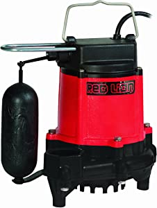 Red Lion RL-50C Cast Iron Sump/Effluent Pump with Snap-Action Float Switch, 1/2 hp, 4000 Gph
