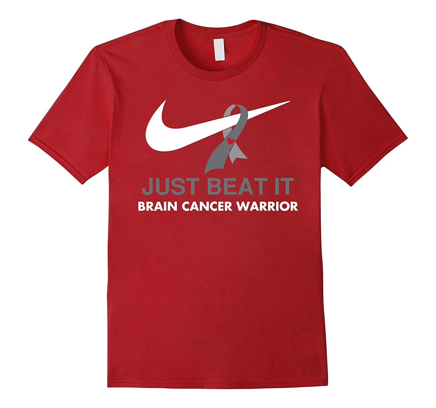 Just Beat It Brain Cancer Warrior Tshirts-Vaci