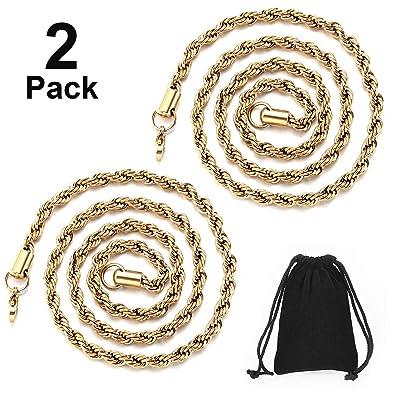 2 Piezas de Cadena de Hip Hop 22 Pulgadas Collar de Cuerda de ...