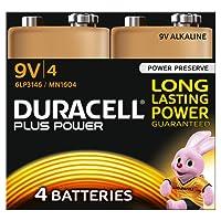 Duracell 9V Plus Battery (Pack of 4)