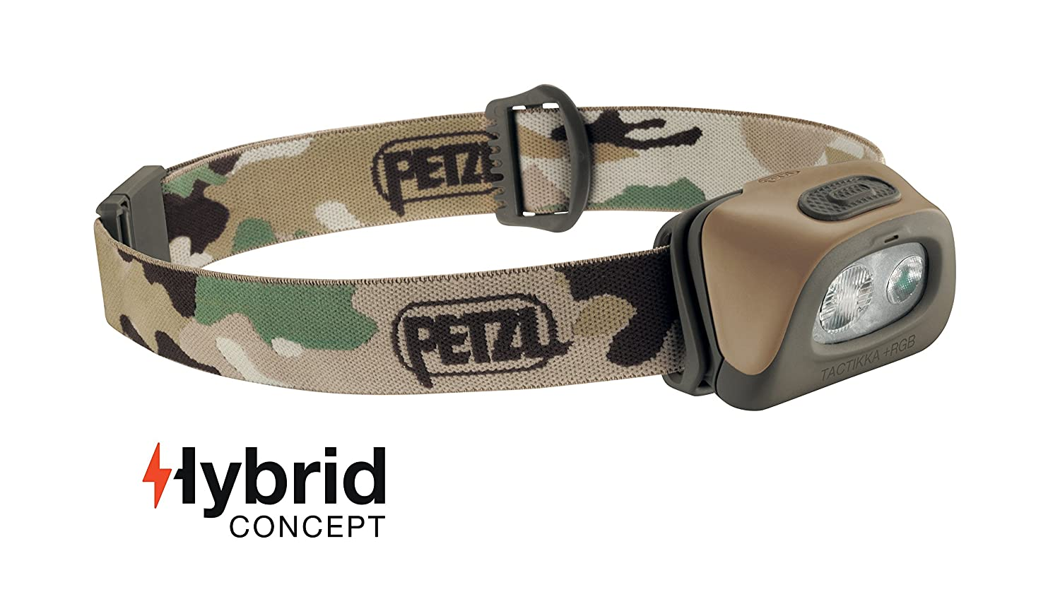 PETZL – TACTIKKA RGB Headlamp, 250 Lumens, Red-Green-Blue Lighting