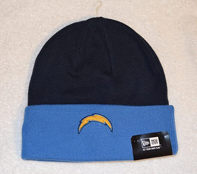 Amazon.com   San Diego Chargers 2-tone New Era Beanie Hat - NFL Cuffed Winter  Knit Toque Cap   Football Apparel   Clothing bc39535f611