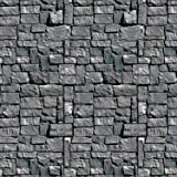Stone Wall Backdrop Party Accessory (1 count) (1/Pkg)