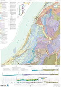 Historic Pictoric Map : Surficial geologic map of Berrien County, Michigan, and The Adjacent Offshore Area of Lake Michigan, 2017 Cartography Wall Art : 24in x 36in