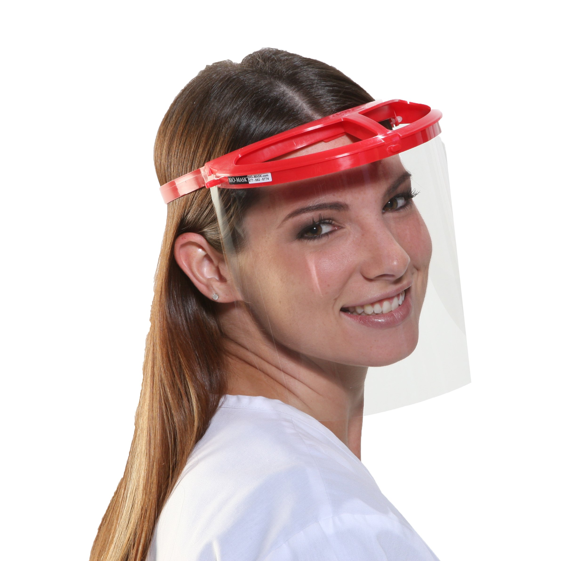 Bio-Mask Face Shield With 10 Shields (Red) by Bio-Mask