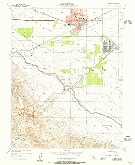 Amazon Com Yellowmaps Tracy Ca Topo Map 1 24000 Scale 7 5 X 7 5