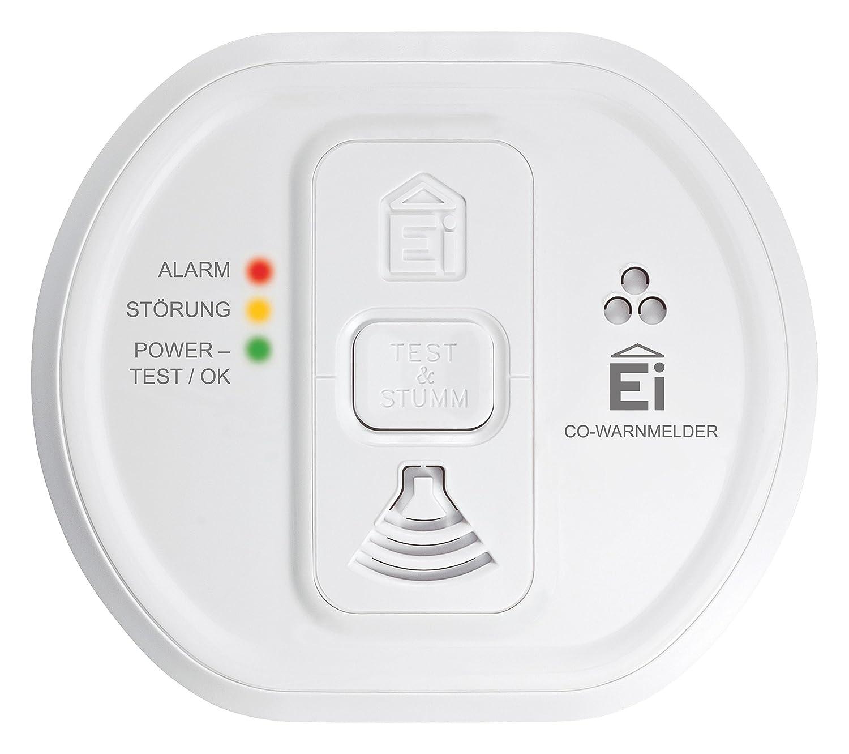 Ei Electronics Professional i-serie Kohlenmonoxidwarnmelder mit fest eingebauter 10-Jahres-Lithiumbatterie, funkvernetzbar mit Funkmodul Ei200MRF, weiß , Ei208iW - 3XD