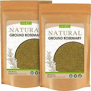 Yamees Rosemary Powder - 12 Oz (6 Oz Each) – Ground Rosemary – Dried Rosemary Powder – Powder Rosemary – Rosemary Ground - Bulk Spices