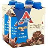 Atkins Ready To Drink Shake, Dark Chocolate Royale, 11 Ounce (Pack of 12)