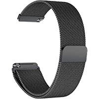TASLAR Stainless Steel Metal Mesh Magnetic Closure Band Strap Wristband Bracelet Compatible with Fitbit Versa/Fitbit Versa Lite/Versa 2 / Versa Special Edition (Black)