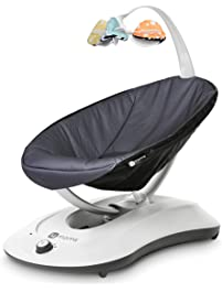 4moms rockaRoo - Compact Baby Swing, Baby Rocker with Front to Back Gliding Motion, Cool mesh Fabric - from The Makers of...