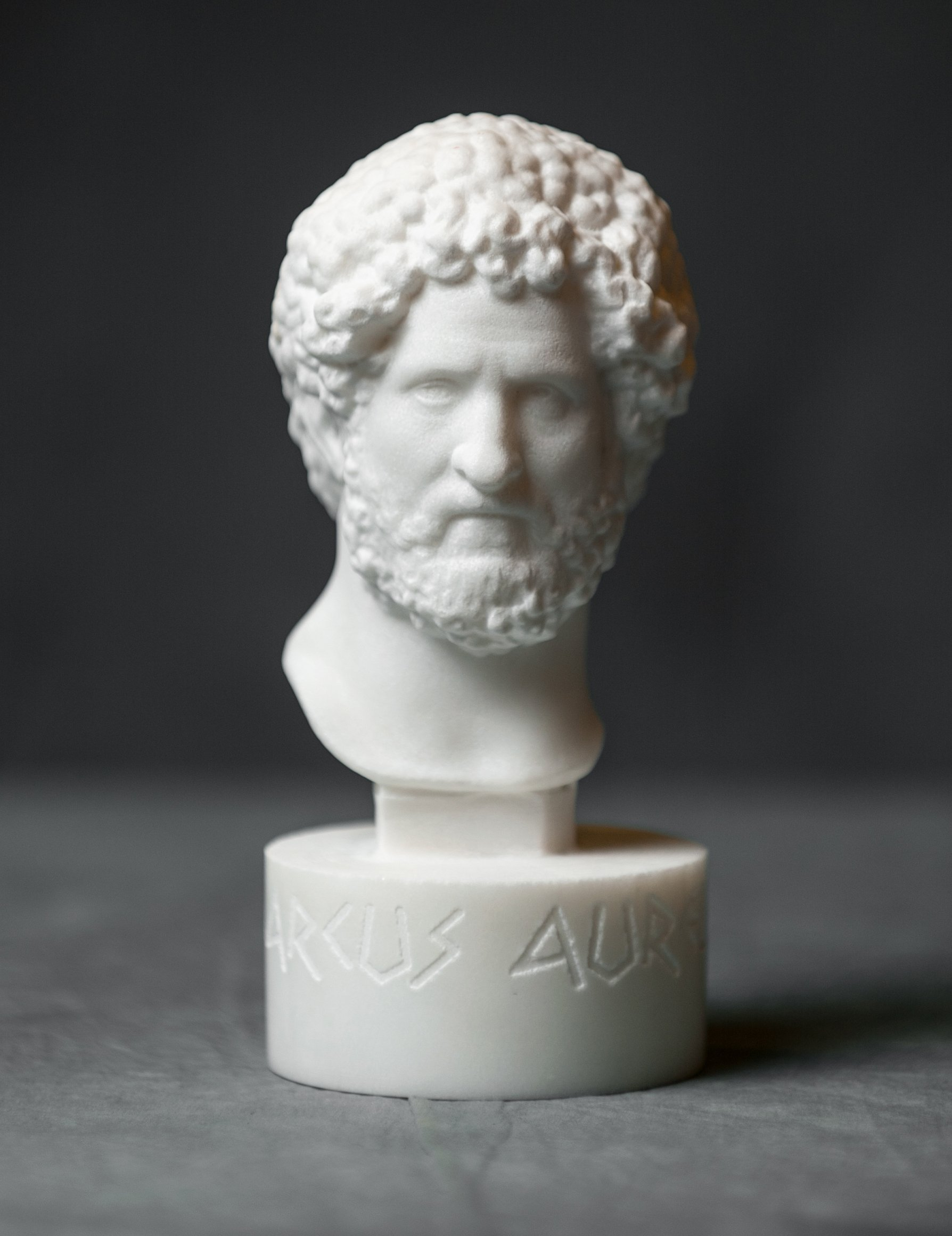Marble Bust of Marcus Aurelius Carved Marble Statue Figurine Artist Sculpture by Greek Marble Art