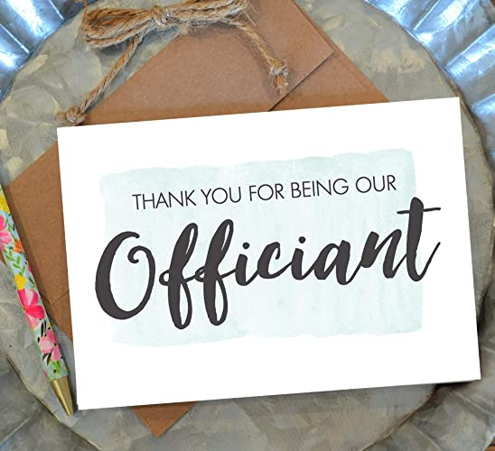 Amazon Com Thank You For Being Our Officiant Card With