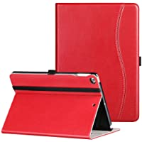 IPad 9.7 Inch 2018/2017 Case, Ztotop Premium Leather Business Slim Folding Stand Folio Cover Auto Wake/Sleep,Pencil Holder Multiple Viewing Angles, Red
