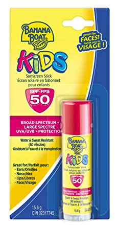 Banana Boat Sunscreen Kids Broad Spectrum Sun Care Sunscreen Stick – SPF 50 Pack of 4