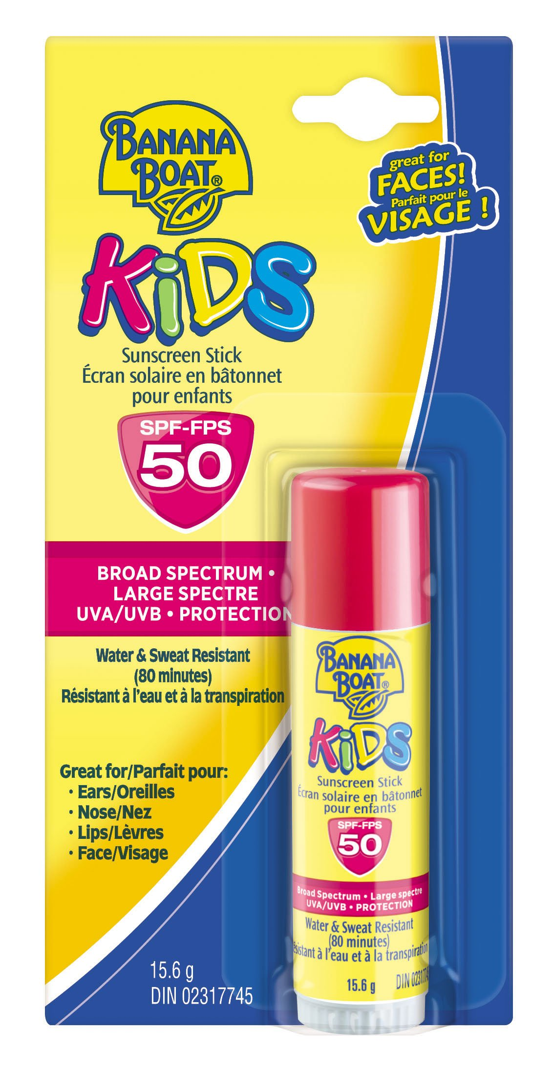 Banana Boat Sunscreen Kids Broad Spectrum Sun Care Sunscreen Stick - SPF 50 (Pack of 4)