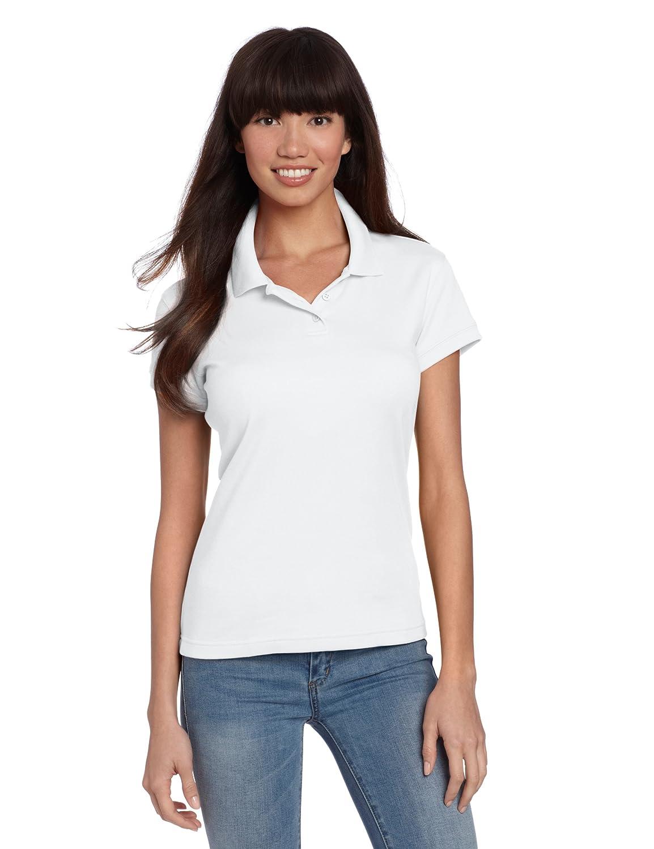 bc131778 Amazon.com: Classroom School Uniforms Junior Girls Short Sleeve Fitted Interlock  Polo, White XX-Large: Clothing
