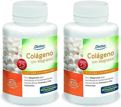 Dietisa - Colágeno con Magnesio, Pack de 900 Comprimidos de 800 mg - Contribuye al Normal Funcionamiento de Huesos, Músculos y Articulaciones - ...