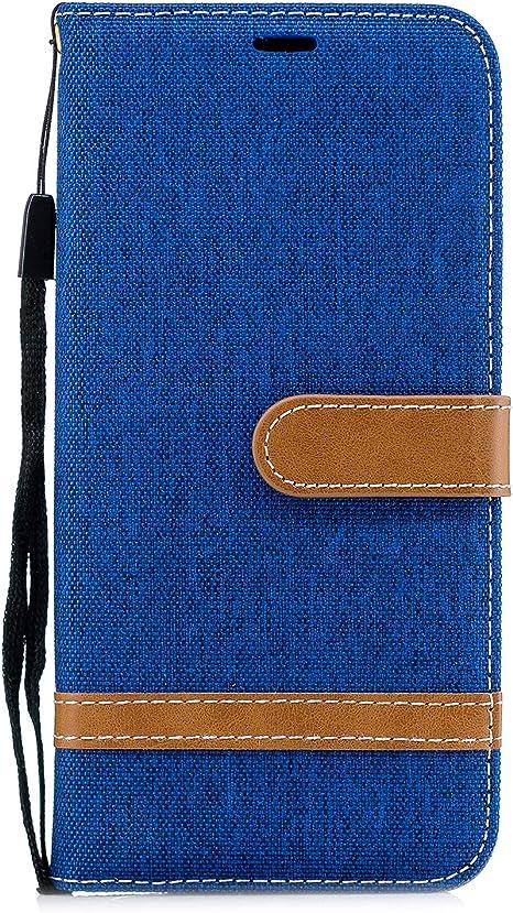 Funda para Huawei P40 Pro Funda Libro, Cartera Estuche Antigolpes Golpes de Cuero con Libro de Cuero Flip Case, Carcasa PU Leather con TPU Silicona Case Interna Suave Cierre Magnético azul marino: