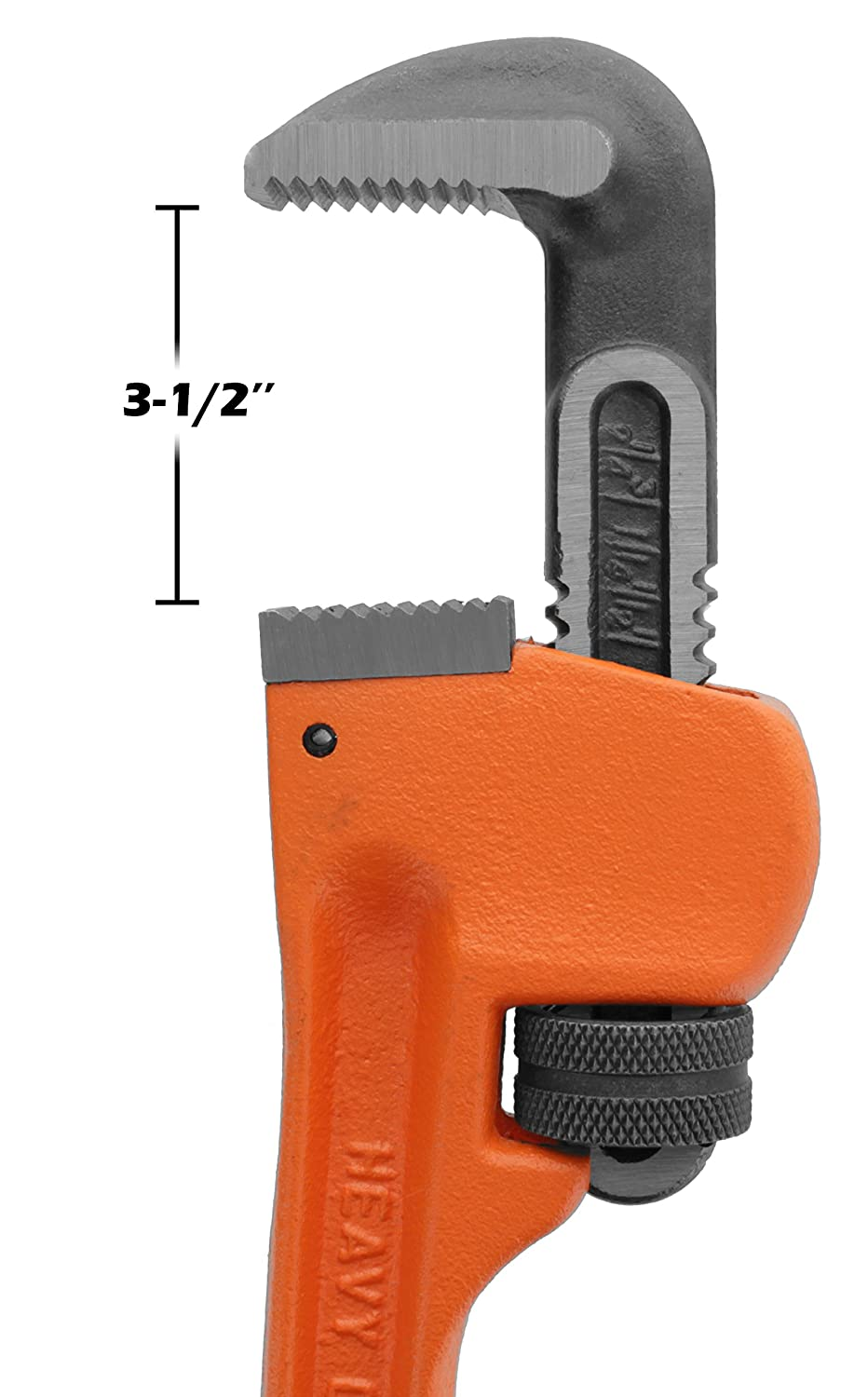 Drixet Heavy Duty 24 Pipe Wrench General Purpose Industrial Tool Made of Drop Forged Heat Treated Steel Jaws /& Nuts