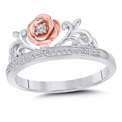 Dreamjewels Enchanted Belle S Crown Ring 1 4ctw Created Simulated