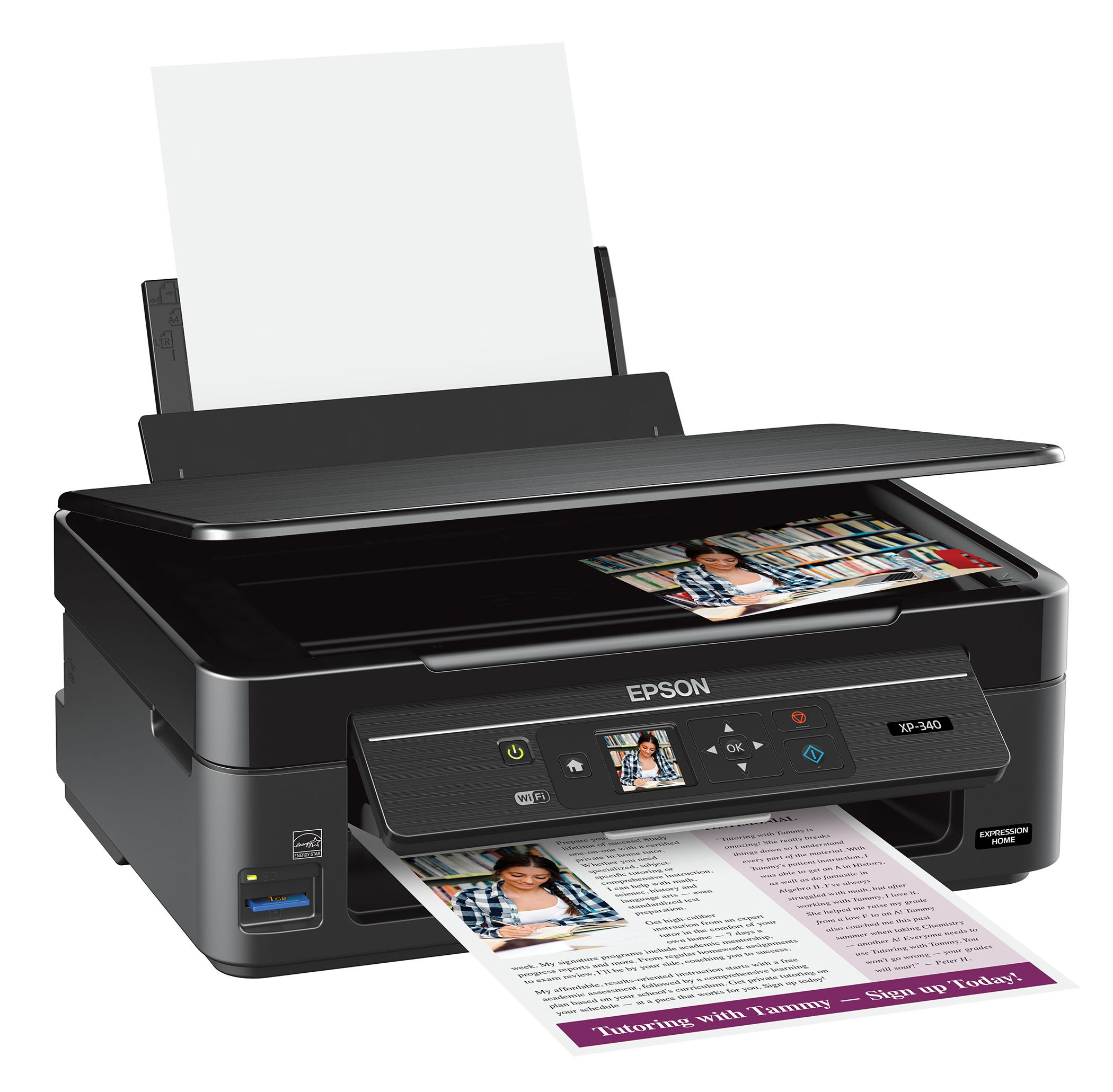 Epson Expression Home XP-340 Wireless Color Photo Printer with Scanner and Copier, Amazon Dash Replenishment Enabled by Epson (Image #3)