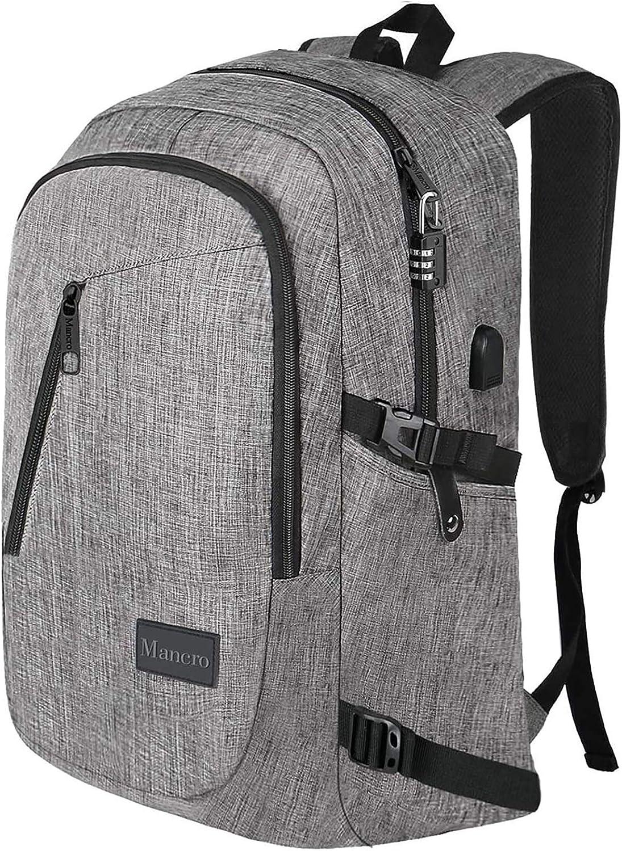 Laptop Backpack Oxford Cloth Shoulder Bag Man Business Effortless Computer Backpack Color : Gray, Size : 422913cm