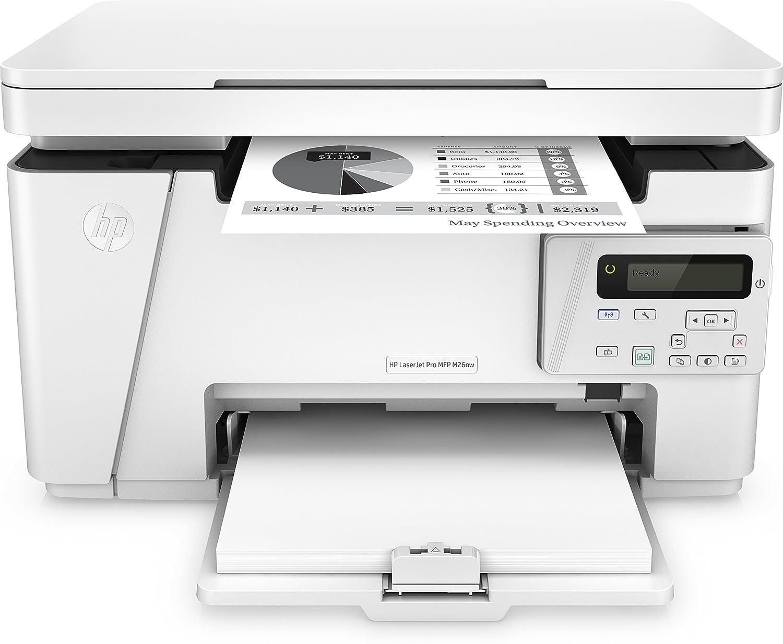 HP LaserJet Pro M26a Stampante Multifunzione Monocromatica, Stampa, Copia, Scansione, Bianco T0L49A#B19