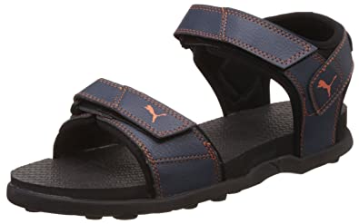 75669ca5144 Puma Men's Sonic Insignia Blue and Orange Athletic & Outdoor Sandals - 6  UK/India