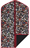 "Concept Covers Stylish 40"" (101cm) Garment / Suit Cover Bag - Clocks Print - 100% Cotton Panama Inc Full Length Zip, Hanger Opening & Folding Loop"