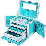 Songmics portagioie scatole per gioielli custodia box JBC212L