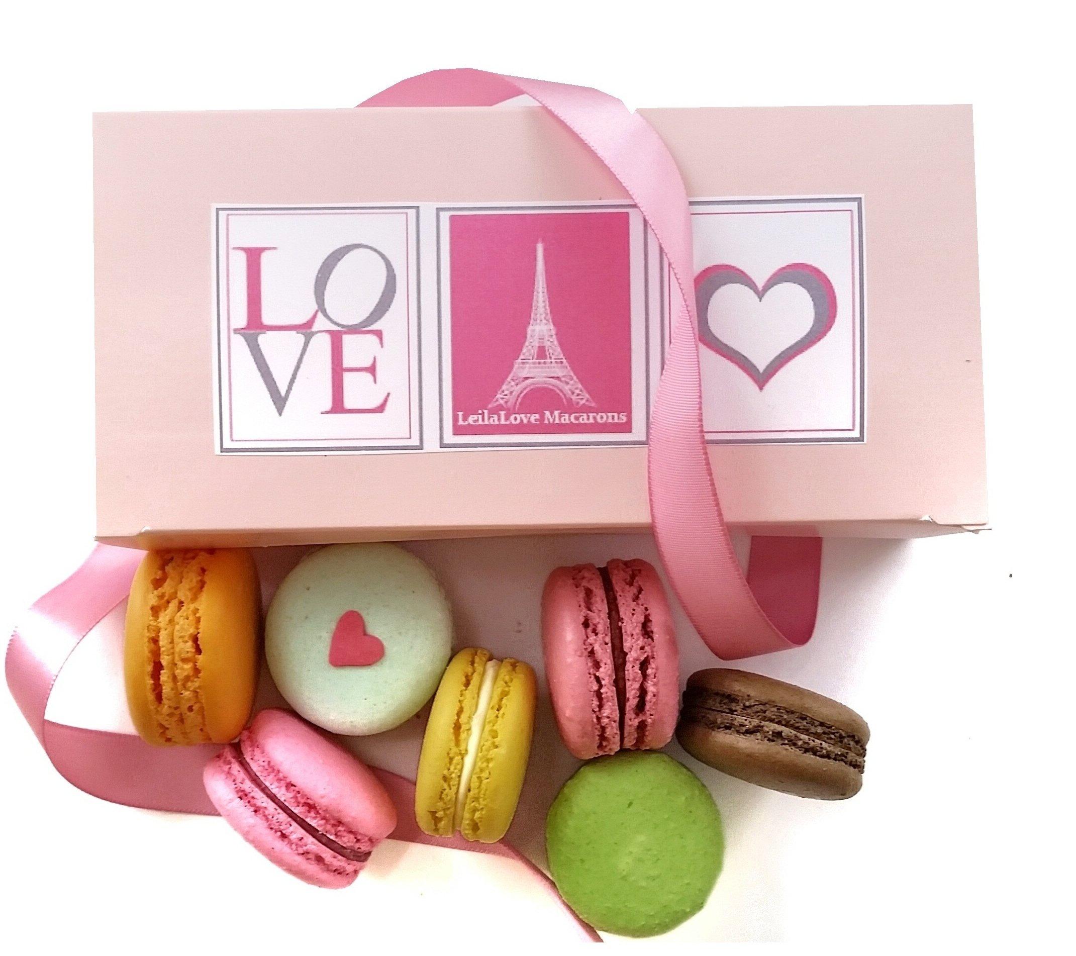 French Gourmet Macarons Love in Paris Gift box of 8 fresh almond Macarons