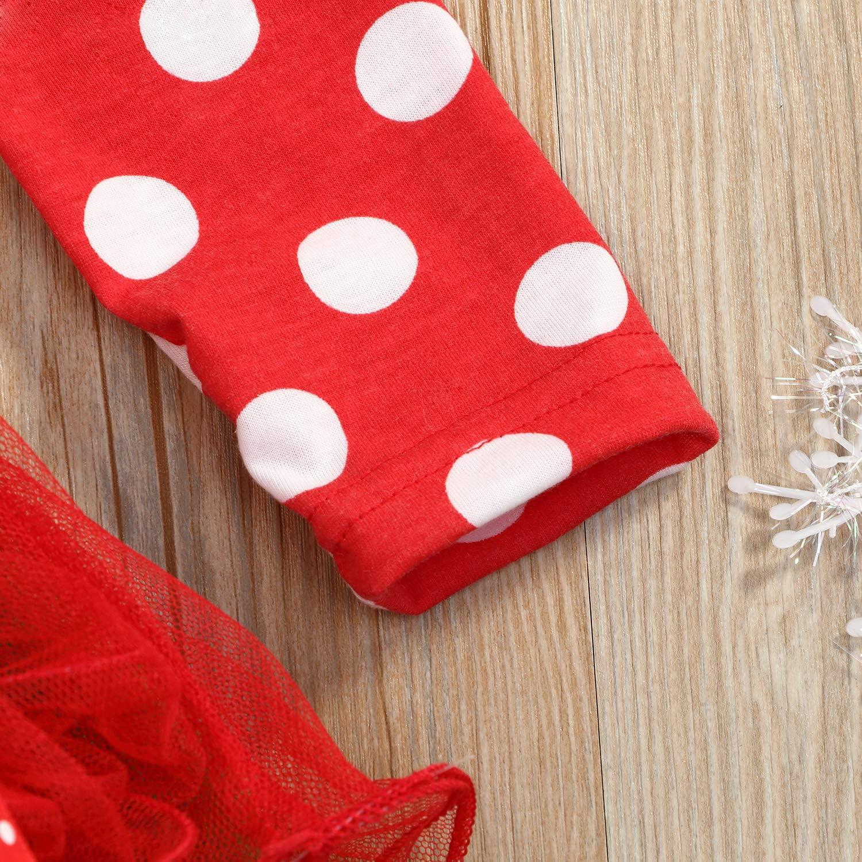 Christmas Toddler Baby Girls Dress Outfits Dot Costume Santa/Princess Xmas Party Tutu Skirt Dresses Clothes